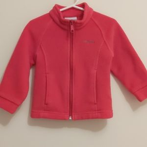 Girl's 2T Columbia Full Zip Fleece Jacket
